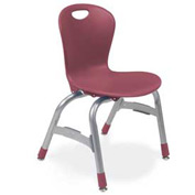 "Virco Zu413 The Zuma Stacking Chair 13"", Wine With Chrome Package Count 5"