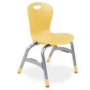 "Virco® Zu413 The Zuma® Stacking Chair 13"", Yellow With Chrome - Pkg Qty 5"