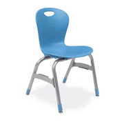 "Virco Zu415 The Zuma Stacking Chair 15"", Blue With Chrome Package Count 5 by Virco"