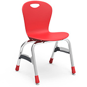 "Virco Zu415 The Zuma Stacking Chair 15"", Red With Chrome Package Count 5"