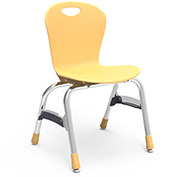 "Virco® Zu415 The Zuma® Stacking Chair 15"", Yellow With Chrome - Pkg Qty 5"