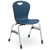 "Virco® Zu418 The Zuma® Stacking Chair 18"", Navy With Chrome - Pkg Qty 4"