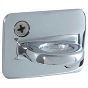 "Conventional Post Stanchion, 2""H Wall Plates, Polished Chrome"