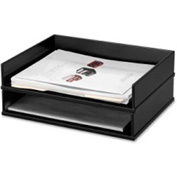 "Victor Tech Stacking Side Loading Letter Tray 13"" x 10-9/16"" x 3-1/4"" Black"