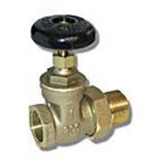 "Wal-Rich® 0409002 1"" Straight Steam Radiator Gate Valves - Pkg Qty 4"