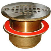 "Wal-Rich® 0521020 3-1/2""Extra-Long Brass Urinal/Shower Strainer - Pkg Qty 3"