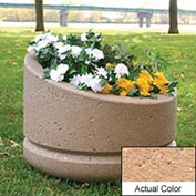 Wausau SL4011 Round Outdoor Planter - Weatherstone Cream 24x18