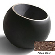 Wausau WS111 Round Outdoor Planter - Weatherstone Brown 36x32