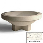 Wausau SL403 Round Outdoor Planter - Weatherstone White 48x18