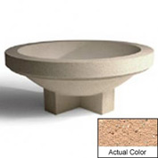 Wausau SL403 Round Outdoor Planter - Weatherstone Cream 48x18