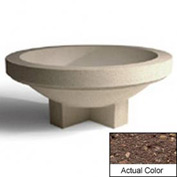 Wausau SL403 Round Outdoor Planter - Weatherstone Brown 48x18