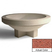 Wausau SL403 Round Outdoor Planter - Weatherstone Brick Red 48x18