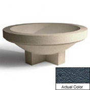 Wausau SL403 Round Outdoor Planter - Weatherstone Charcoal 48x18