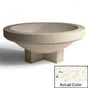 Wausau SL4031 Round Outdoor Planter - Weatherstone White 72x28-1/2