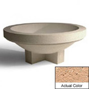 Wausau SL4031 Round Outdoor Planter - Weatherstone Cream 72x28-1/2