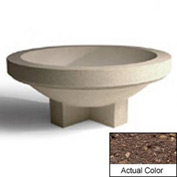 Wausau SL4031 Round Outdoor Planter - Weatherstone Brown 72x28-1/2
