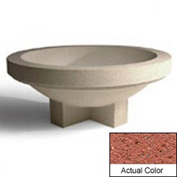 Wausau SL4031 Round Outdoor Planter - Weatherstone Brick Red 72x28-1/2