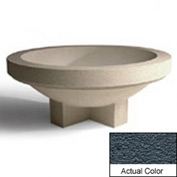 Wausau SL4031 Round Outdoor Planter - Weatherstone Charcoal 72x28-1/2