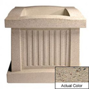 Wausau SL404 Square Outdoor Planter - Weatherstone Gray 28x28x24