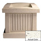 Wausau SL404 Square Outdoor Planter - Weatherstone White 28x28x24