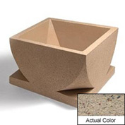 Wausau WS107 Square Outdoor Planter - Weatherstone Gray 30x30x18