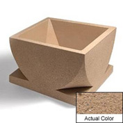 Wausau WS107 Square Outdoor Planter - Weatherstone Sand 30x30x18