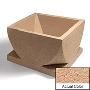 Wausau WS107 Square Outdoor Planter - Weatherstone Cream 30x30x18