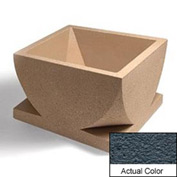 Wausau WS107 Square Outdoor Planter - Weatherstone Charcoal 30x30x18