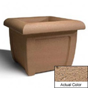 Wausau SL407 Square Outdoor Planter - Weatherstone Sand 38x38x30