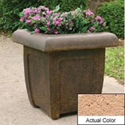 Wausau SL4071 Square Outdoor Planter - Weatherstone Cream 20x20x20