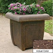 Wausau SL4071 Square Outdoor Planter - Weatherstone Brown 20x20x20