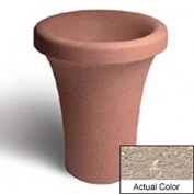 Wausau SL409 Round Outdoor Planter - Weatherstone Buff 24x30