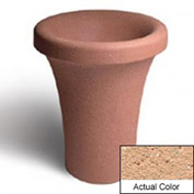 Wausau SL409 Round Outdoor Planter - Weatherstone Cream 24x30
