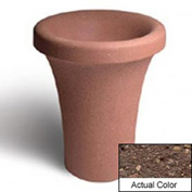 Wausau SL409 Round Outdoor Planter - Weatherstone Brown 24x30