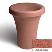 Wausau SL409 Round Outdoor Planter - Weatherstone Brick Red 24x30