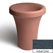 Wausau SL409 Round Outdoor Planter - Weatherstone Charcoal 24x30
