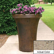 Wausau SL4091 Round Outdoor Planter - Weatherstone Gray 24x36