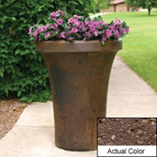 Wausau SL4091 Round Outdoor Planter - Weatherstone Brown 24x36