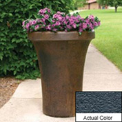 Wausau SL4091 Round Outdoor Planter - Weatherstone Charcoal 24x36