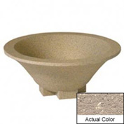 Wausau SL435 Round Outdoor Planter - Weatherstone Buff 36x15