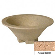Wausau SL435 Round Outdoor Planter - Weatherstone Cream 36x15