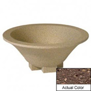 Wausau SL435 Round Outdoor Planter - Weatherstone Brown 36x15