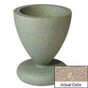 Wausau SL445 Round Outdoor Planter - Weatherstone Buff 24x29-1/2