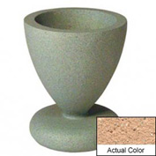 Wausau SL445 Round Outdoor Planter - Weatherstone Cream 24x29-1/2