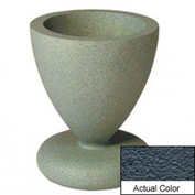 Wausau SL445 Round Outdoor Planter - Weatherstone Charcoal 24x29-1/2