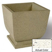 Wausau SL450 Square Outdoor Planter - Weatherstone White 24x24x30