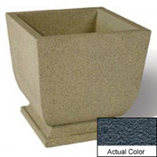 Wausau SL450 Square Outdoor Planter - Weatherstone Charcoal 24x24x30