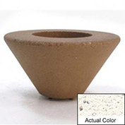 Wausau SL476 Round Outdoor Planter - Weatherstone White 36x18
