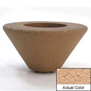 Wausau SL476 Round Outdoor Planter - Weatherstone Cream 36x18