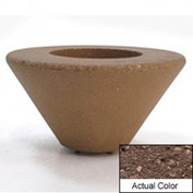 Wausau SL476 Round Outdoor Planter - Weatherstone Brown 36x18